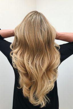 blond highlights foil sandy blond